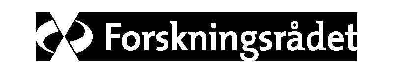 Logo Forskningsrådet - hvit